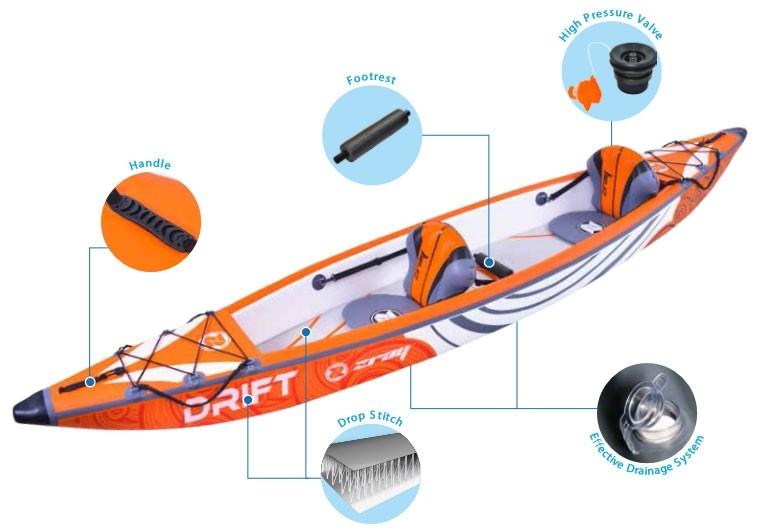 Kayak gonflable Zray Drop Stitch