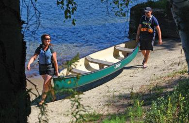 déplacer canoe